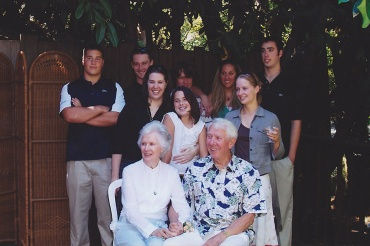 DON KREPS, lower right, is shown here with his family. There will be a walk for Alzheimer's honoring Kreps on Sept. 29.