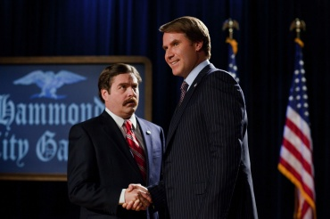 Cam Brady (Will Ferrell) takes on the ridiculous underdog, Paul Huggins (Zach Galifianakis), in this raunchy political parody.