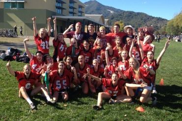 "The senior girls won the highly competitive powder-puff football game during lunch Friday. Friday was also ""college day."""