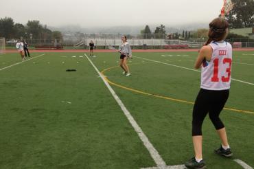 Isabelle Carbone at preseason girls lacrosse practice last week
