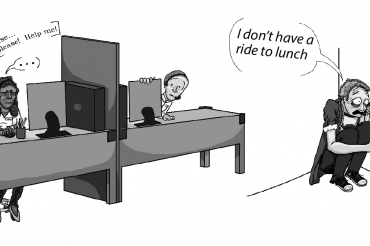 No Ride To Lunch Cartoon