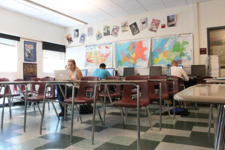 Certain senior dominated classes like AP Economics  were vacated on Tuesday