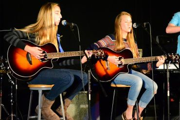 "Shaya Barry and Maddy Peng play a cover ""Give Me Love"" at the Intermediate Performance Workshop concert on Dec. 5."