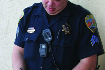 Belvedere police officer sporting a body-camera