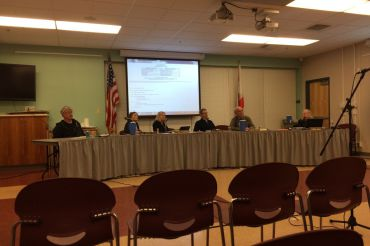Board members discuss the issue of hiring a new superintendent at the TUHSD Board of Trustees meeting on Wednesday, Jan. 28.