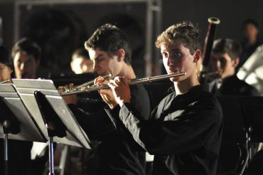 Jeremy Goldwasser and Michael Schwartz sit first and second chair in the flute section in Thursday nights concert.