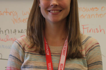 Starting her first year as a chemistry teacher, Emily Doran is orginally from Oregon and fell in love with teaching while she was a tutor in college.