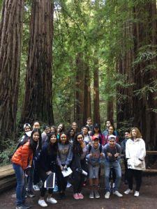 LA CLASE DE ELD experiencia la cultura estadounidodense es su excursión a Muir Woods.