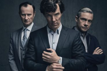 "BBC's ""Sherlock"" stars Benedict Cumberbatch as the infamous detective Sherlock Holmes, adapted from Sir Arthur Conan Doyle's detective stories."