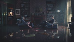 Sherlock's flat at 221 B Baker Street is an iconic spot in the show where clients from all over England bring their cases to the Sherlock-Watson duo.