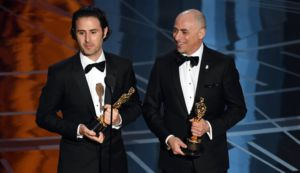 Marc Sondheimer, right, won an academy award for the short film
