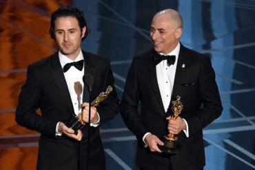 "Marc Sondheimer, right, won an academy award for the short film ""Piper"""