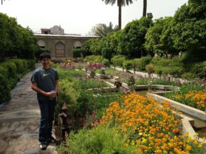 Junior Kian Kazemi visits Shiraz, Iran in 2015. Kazemi, whose father is from Iran, fears the Trump Administration's travel ban will prevent him from seeing family members who live in Iran.
