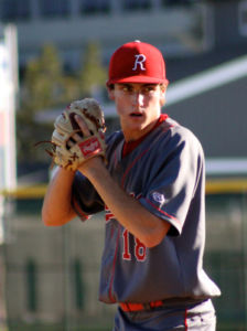 Staring down the opposing batter, Zach Kopstein plays in his last season at Redwood.