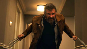 Main Character, Logan (Hugh Jackman) whips out his claws.