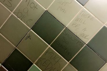 Students and staff were notified about the graffitied threat, forcing administration to  determine its legitimacy.