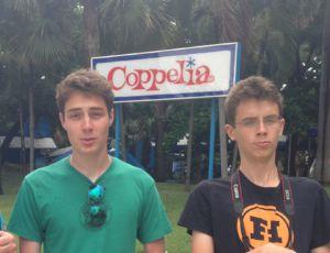 Aidan and Keaton Ferguson exploring Cuba's number one ice cream shop.