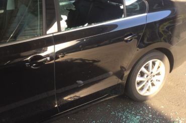 Junior's car window smashed open after bags and keys were taken from the car