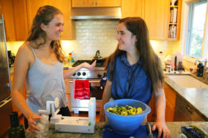 Fogarty (right) and Duys (left) enjoy cooking healthy meals for themselves.