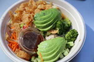 California Poke rice bowl