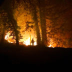 Destructive wildfires burn over 217,000 acres and destroy an estimated 5,700 structures