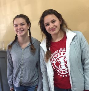 Leah Gustafson and another Interact student.