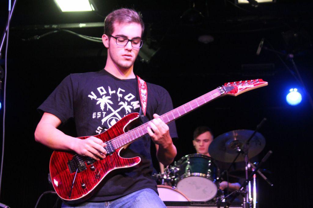 Junior Robert Searles contributes several unique guitar solos.