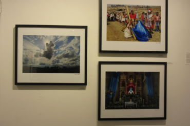 Wall of three images with varying content