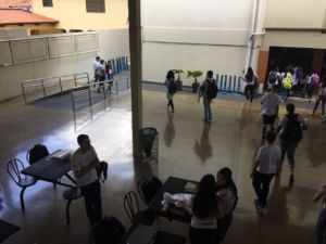 Sophomore Olivia Lane's school buildings and classrooms in Goiânia, Brazil.