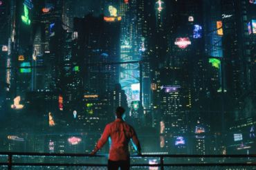 Protagonist Takeshi Kovacs looks over Bay City