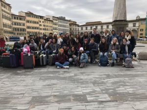 Leaving Florence, art students continued on their 11-day Italy trip over February break.