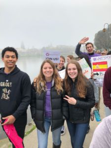 Redwood students at Beyond Differences march in Oakland.