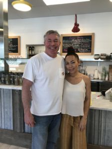 Owners Mike Rupers and Bee Belanger celebrate their new cafe