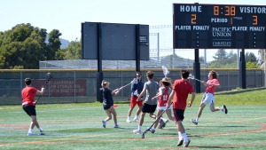 During the 2017 annual Switch Sticks game, the two teams battled it out on the field.