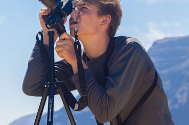Courtesy of Ellen McDaniels Sanford-Caleb practices his photography skills