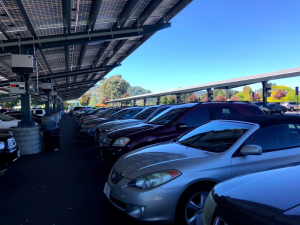 Even at the beginning of the year, cars fill the lot.