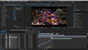 Editing a sports highlight, Nishant Misal uses Adobe After Effects to put his videos together.