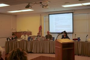 The TUHSD board discussing why they believe Dr. Tara Taupier is fits the role of Superintendent.