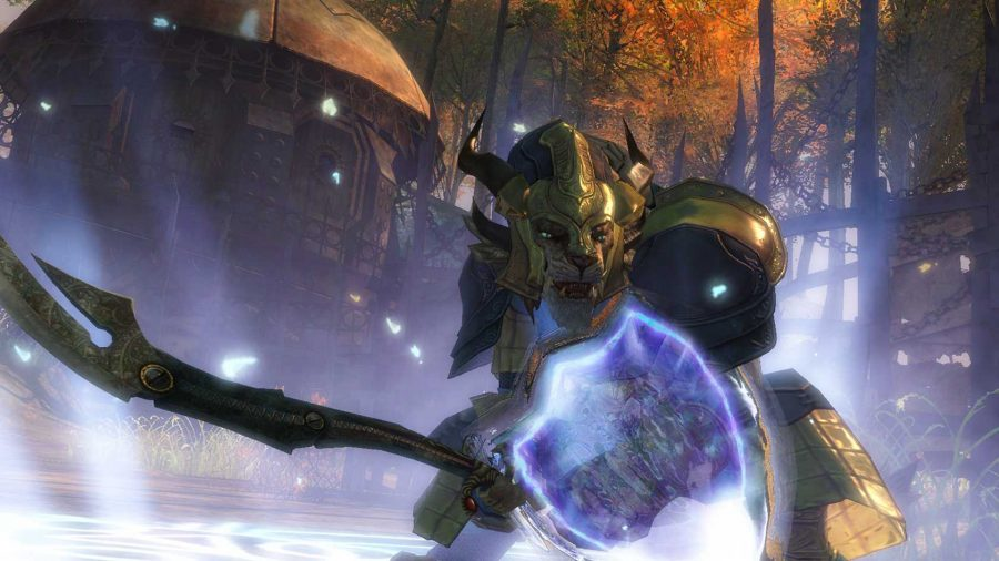 Many character options and an abundance of weapon choices ensure that players will have a unique experience with Guild Wars 2.