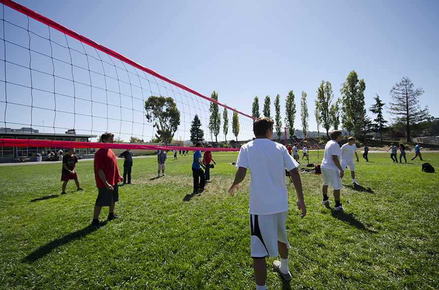 Video: Intramural volleyball, lunchtime fun with a little competition