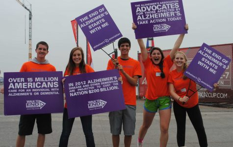 One step at a time: Students participate in the Walk to End Alzheimer's