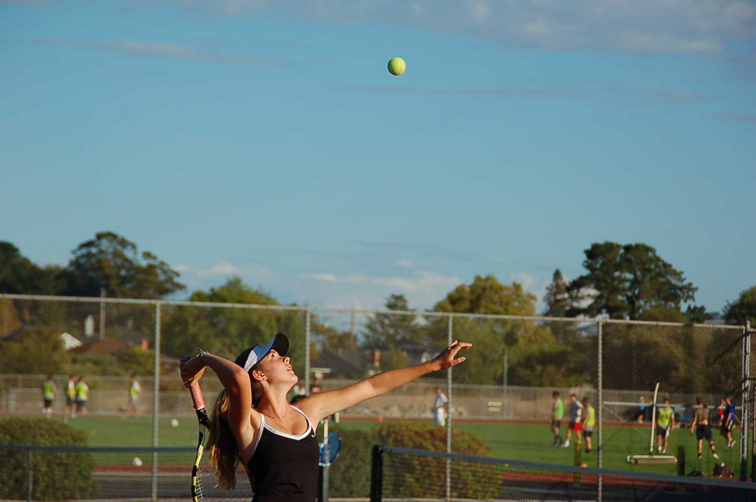 Girls varsity tennis serve up a win against rival Branson