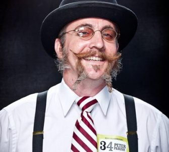 Peter Parish won last year's Whiskerino with this winning facial hair combination.