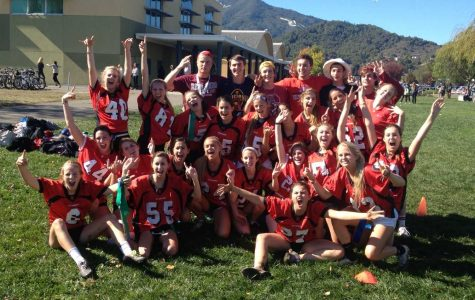 The senior girls won the highly competitive powder-puff football game during lunch Friday. Friday was also