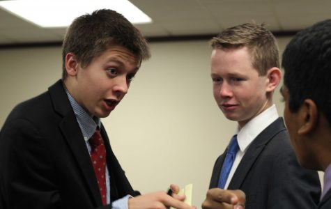 Junior Tom Cline proposes India's point of view to other delegates in his committee in last weekend's Model United Nation's conference at Stanford University.