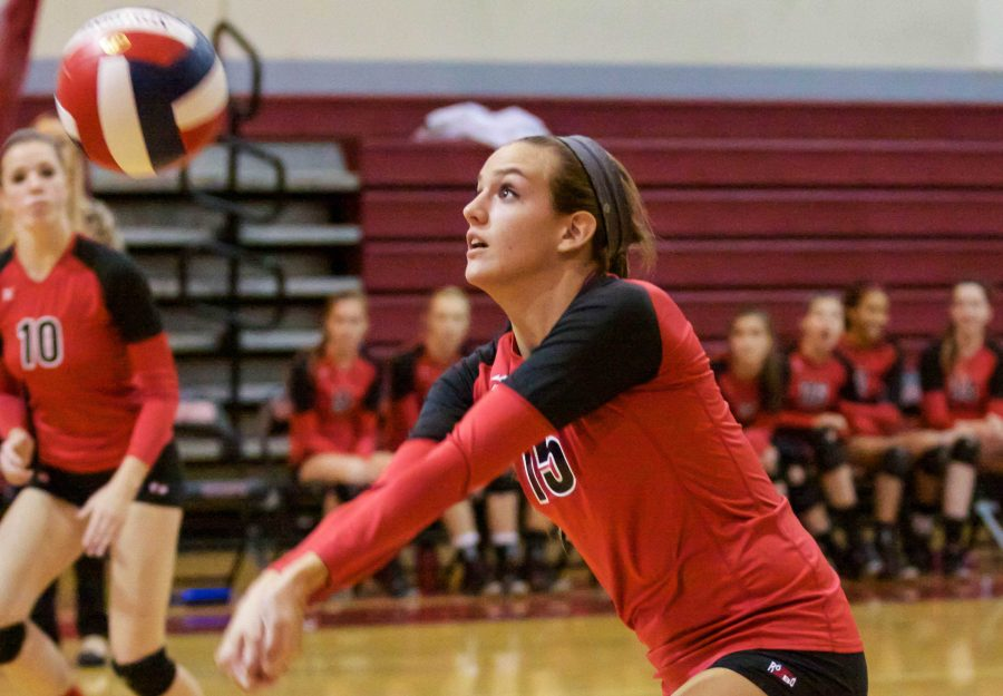 Gallery: Girls varsity volleyball fights through first NCS game to victory