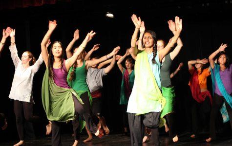 Dance Focus performs Bhangra dance in Little Theatre