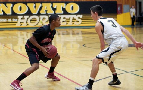 Boys' varsity basketball defeats Novato