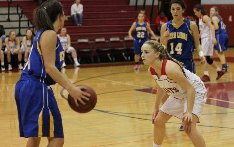 Girls' varsity basketball defeats Terra Linda
