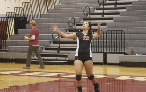 Freshman girls' volleyball dominate in final home game